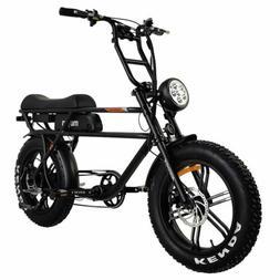 "Addmotor MOTAN M-70 Electric Bicycle 750W 20"" Fat Tire Cruis"