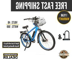 New 2019 X-Treme LAGUNA BEACH CRUISER 48V  Electric Bicycle,