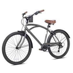 """NEW Kent 26"""" Mens Bayside Beach Cruiser Bike Satin Cocoa FRE"""