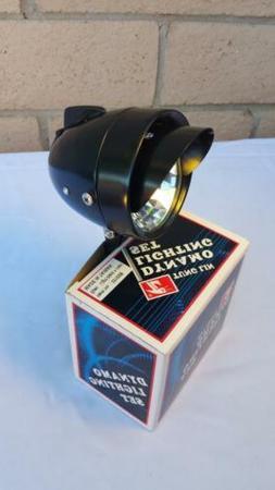 New Black Bicycle Bullet Head Light W Vizor & Mounting Brake