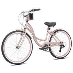 "New Women's 26"" Kent Bayside Rose Gold Bike Bicycle Beac"