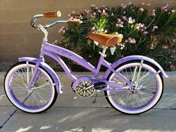 "Colby Cruisers Nicci 20"" Girls Beach Cruiser Lavender"