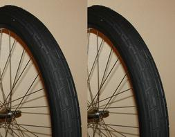 Pair of Black 26x2.35 Deli Bicycle Fat Tires Slick Beach Cru