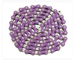 Purple & Silver YBN 1/8 Bike Bicycle Chain Single Speed Fixi