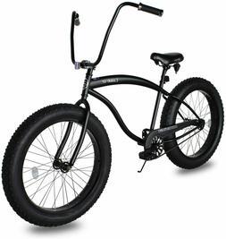 """Micargi Slugo-B 26"""" Fat Tire Beach Cruiser Bike MOON TYPE Ha"""