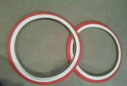 TWO DURO 26X2.125 BEACH CRUISER BICYCLE TIRES RED & WHITE WA