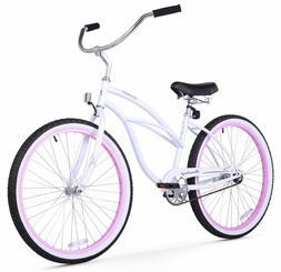 "Firmstrong Urban Limited Lady 26"" Beach Cruiser Bike White w"