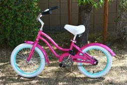 """Colby Cruisers Venus 16"""" Girls Beach Cruiser Pink"""