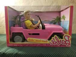 Vintage Barbie and Ken Beach Jeep Cruiser Dolls & Accessorie