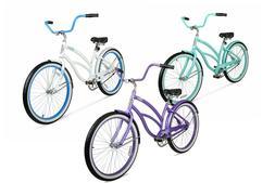 Womens 26 inch Wheel Beach Cruiser Bike Light Weight Frame A