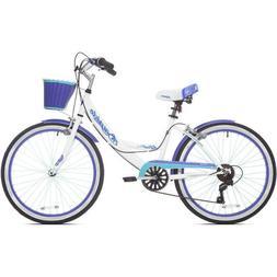 """Womens Beach Cruiser Bike 24"""" Girls Bicycle 7-Speed Classic"""