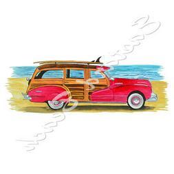Woody Beach Cruiser High Quality Printed Vinyl Decal Wall Wi